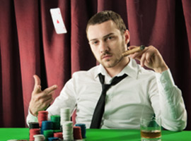 Игра в покер против агрессора